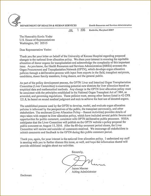 HRSA 2016 Response to Congressman Yoder